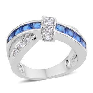 Simulated Blue Diamond, Simulated Diamond Silverto